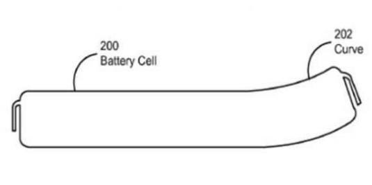 Apple Patented Curved Battery