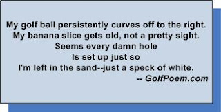 funny golf limerick poem banana slice sand trap