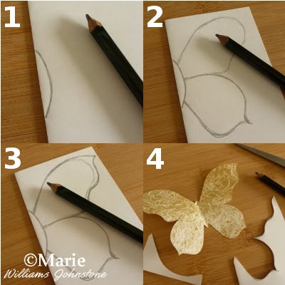 Craftymarie Easy How To Make A Butterfly Template