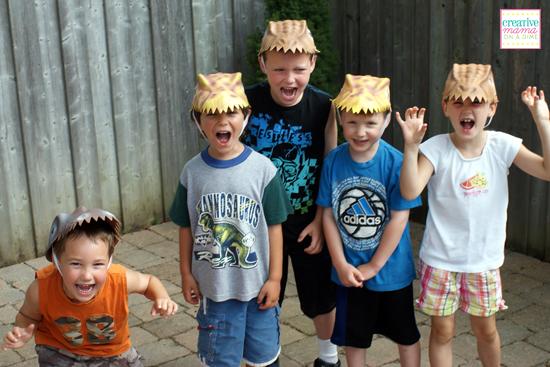 Dino-mite birthday hats