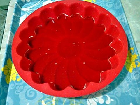 Molde para la tarta de queso light con gelatina de fresa