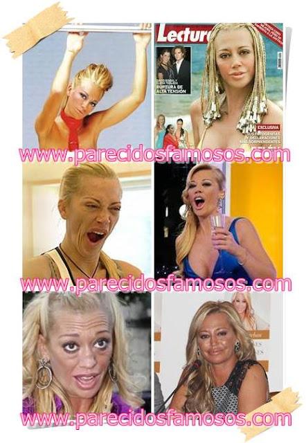 Belén Esteban famosos antes y después