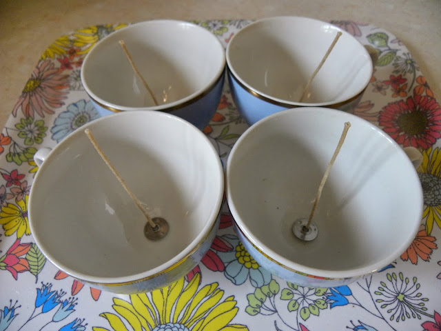 Vintage Teacups for Candles