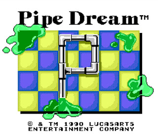 Captura de pantalla del videojuego Pipe Dream de NES (1990)