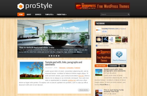 Free Wooden Premium Business Wordpress Theme