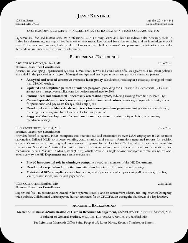 over cv and resume samples with free download combination livecareer coordinator resume examples john smith human - Human Resources Professional Resume