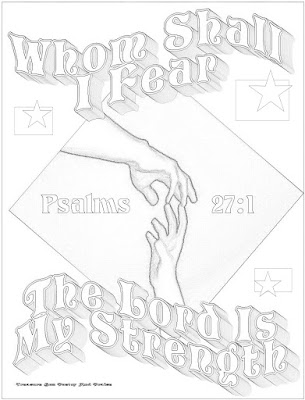 Fear Not For I Am With You Coloring