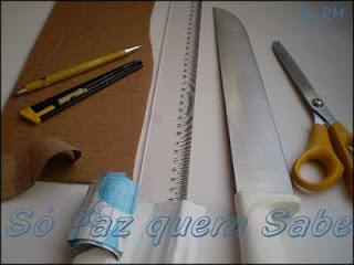 Materiais para fazer uma bainha de faca.