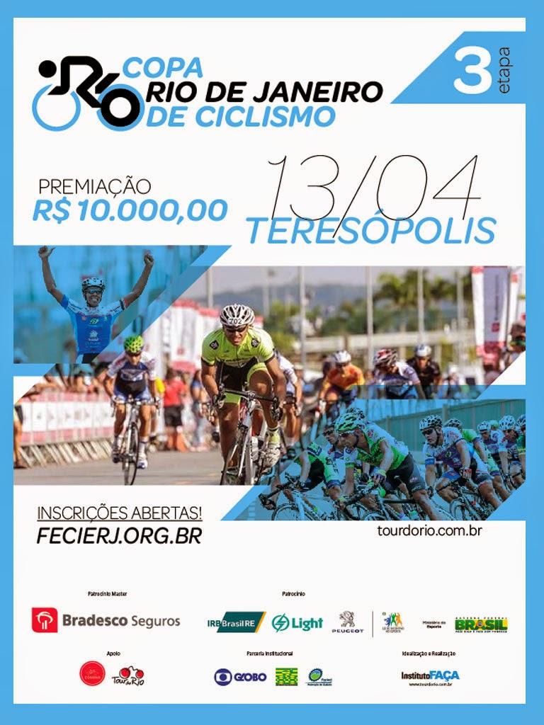 Teresópolis recebe 3ª etapa da Copa Rio de Janeiro de Ciclismo