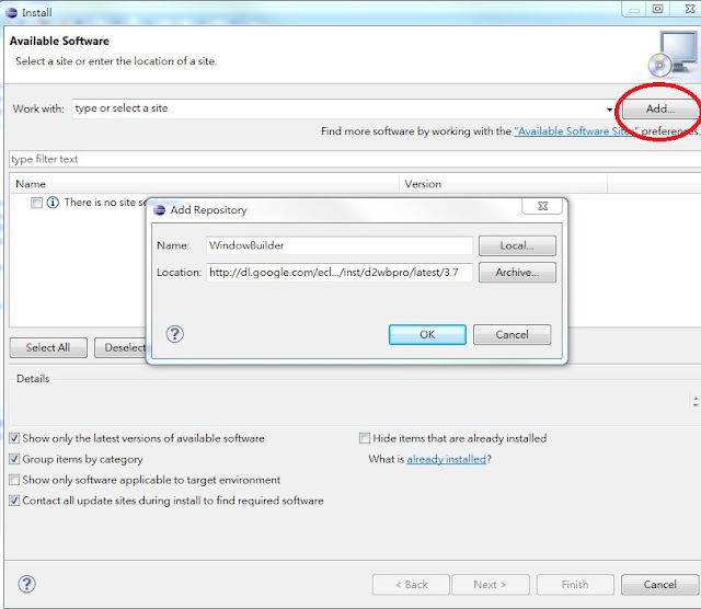 Java gui eclipse plugin windowbuilder swing swt for Windowbuilder