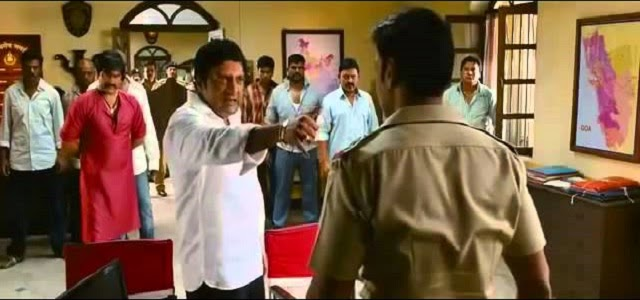 Welcome to Goa, Singham!. Prakash Raj shows his power to Ajay Devgan?