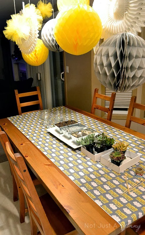 Sunshine and Grey Girl's Night Out planting table