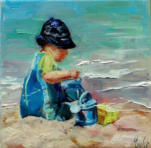 A nos pinceaux le petit gar on sur la plage d fi 61 du for Peinture chambre petit garcon