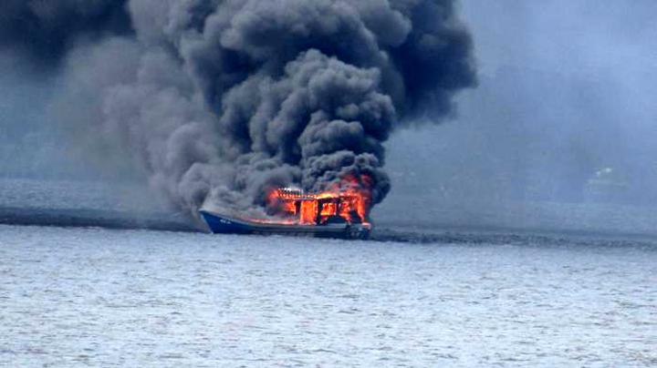Tiga Kapal Nelayan Malaysia dimusnahkan di Selat Bengkalis