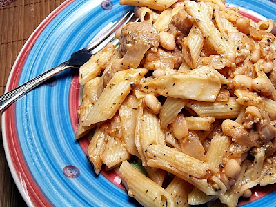 Simple Sausage Beans and Pasta