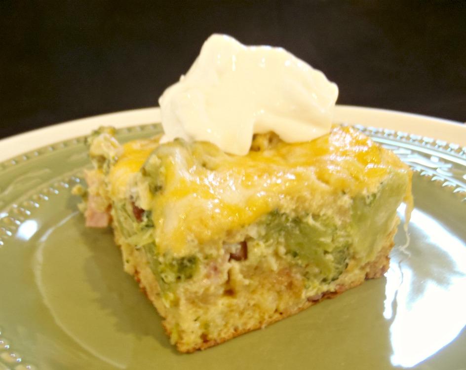 Aunt Peg's Recipe Box: Ham, Cheese, and Broccoli Strata