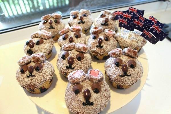 Cupcakes de Koala Koala Bear Lamington Cupcakes