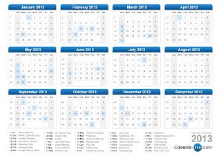 Calendar 2013 de pe www.calendar-365.com