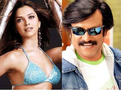 Deepika Padukone with Rajinikanth