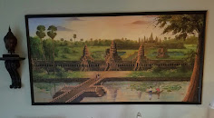 Painting of Angkor Wat we bought in Cambodia