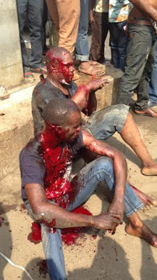 Graphic photos: Armed robbers caught at Fadeyi bus stop, Lagos