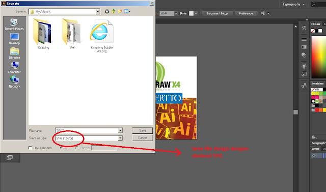 Cara Simpan SVG file