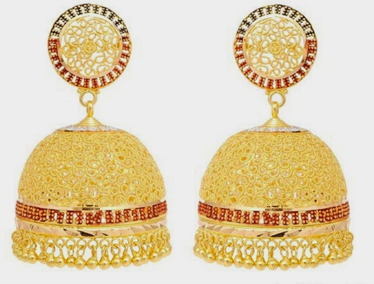 Beautiful Traditional South Indian Gold Jhumka Designs Wallpapers ...