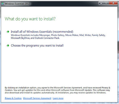 Cara Install Windows Live Essentials 2012