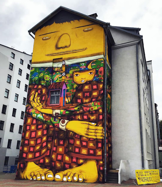 While we last heard from them in Denmark last month, Os Gemeos are now in Belarus where they just finished working on a brand new mural somewhere on the streets of Minsk.