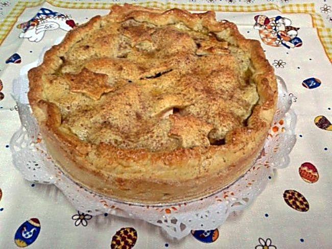 Tarta de manzana y moras