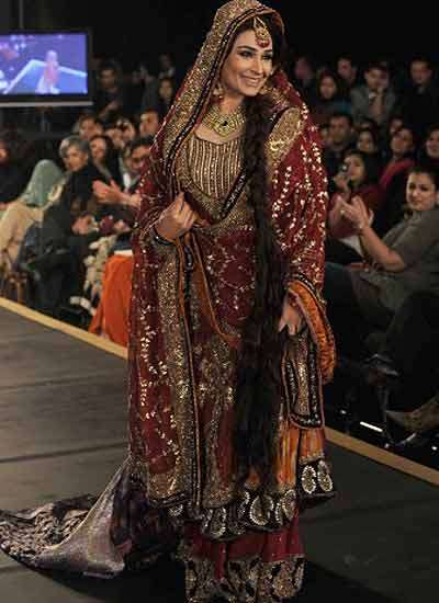Bridal Couture on Pakistani Brides  Bridal Couture Week 2012