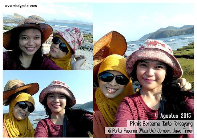 Piknik bersama tante tersayang di pantai papuma (watu ulo) Jember, Jawa Timur