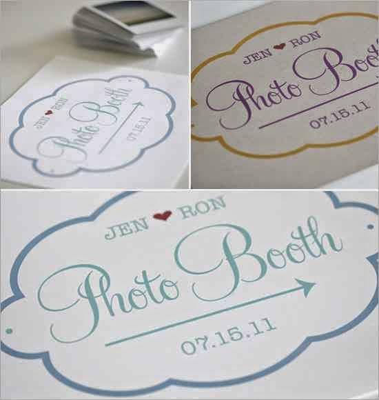 Señalización PhotoBooth para Imprimir.