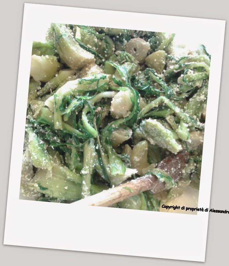 preparazione cicorie al forno con olive e capperi