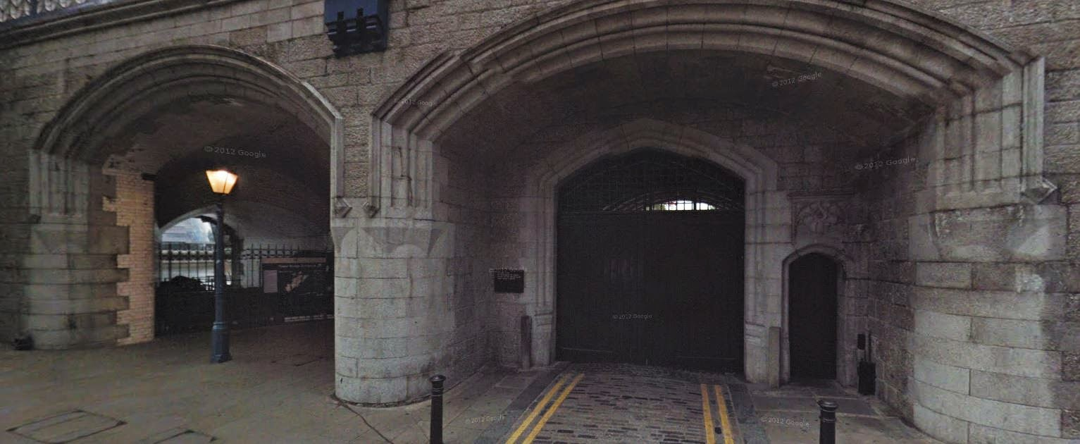 Eastern arches under the north approach to Tower Bridge  (from Google Streetview)