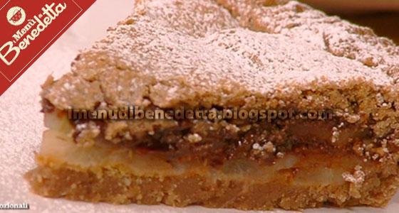 Crostata di Pere e Cioccolato con Farina di Castagne di Benedetta Parodi