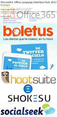 Twitter a fondo con Oscar del Santo, Windows 8 y Office en euskera, Boletus y herramientas de gestión de redes sociales
