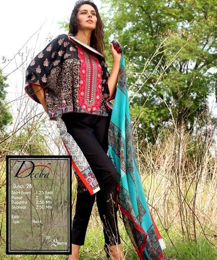 Shariq Textile Deeba Premium Lawn 2015