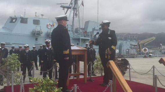 First African woman to take charge of a Navy vessel -see photos
