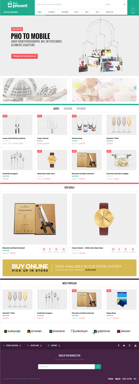 New WooCommerce WordPress Template
