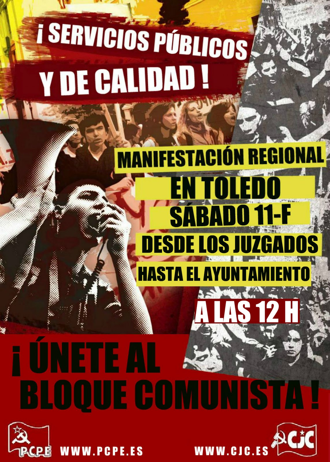 Manifestación Regional en Toledo: ¡Por unos servicios públicos y de calidad! Cartel+11+de+febrero