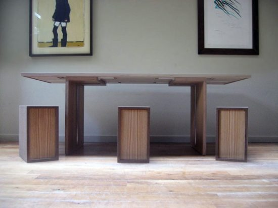 desain rumah minimalis unique design dining table