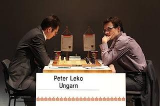Echecs à Dortmund - ronde 8 : Peter Leko (2720) 1-0 Mateusz Bartel (2665) - Photo © Georgios Souleidis