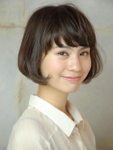 model rambut bob nungging asia