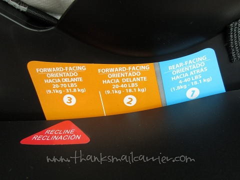 car seat recline instructions