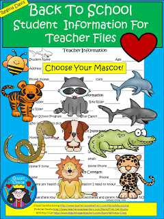https://www.teacherspayteachers.com/Product/A-Back-To-School-Student-Information-For-Teacher-Files-1385994