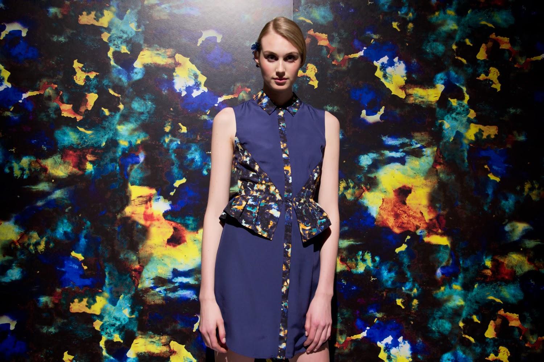 Sarah-Stevenson-For-Target-Canada, Water-Colour-Blue-Peplum-Dress, Spring