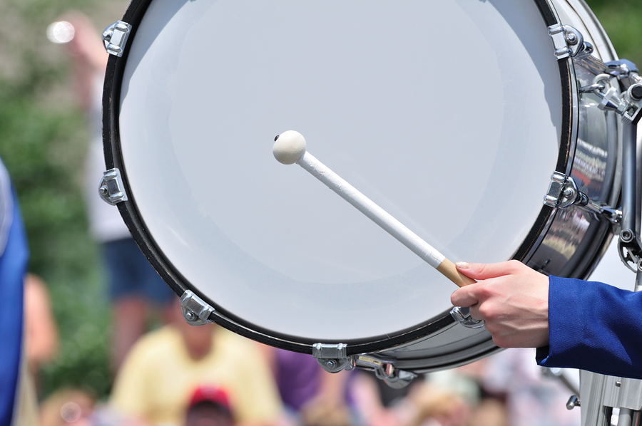 Marching Band Drum Bass Drum in a Marching