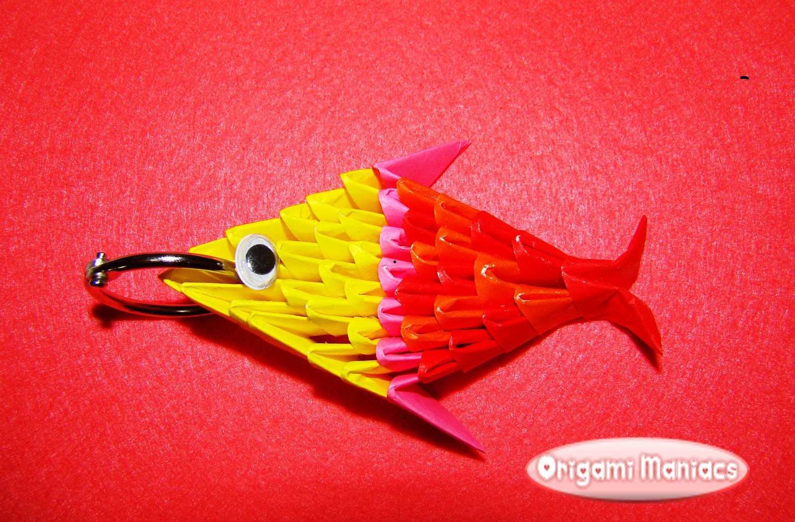 Origami Maniacs 3d Origami Keyholder Fish