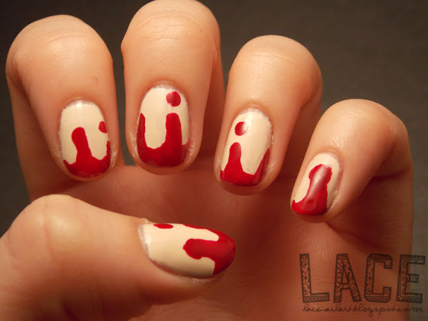 lace nail art halloween